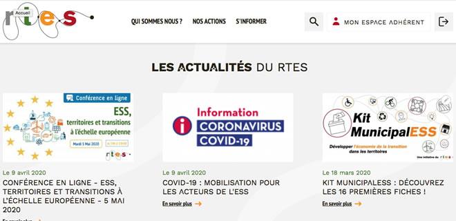 Page d'accueil site rtes.fr